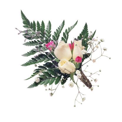 結婚「White Rose Corsage」:スマホ壁紙(1)