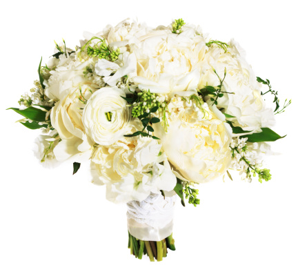 Bouquet「White rose floral bouquet bound with white ribbon」:スマホ壁紙(14)