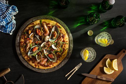 はまぐり料理「シーフードピザ」:スマホ壁紙(0)