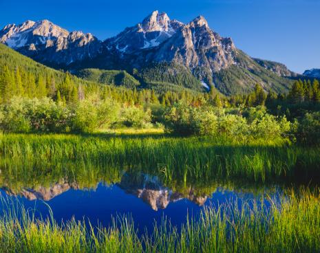 National Recreation Area「The Sawtooth Mountain Range, Stanley Idaho  (P)」:スマホ壁紙(14)