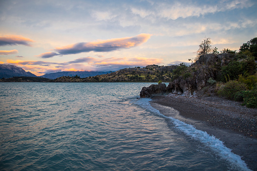 cloud「Shore at Lago Gral Carrera by Puerto Rio Tranquilo, General Carrera Province, Chile」:スマホ壁紙(14)