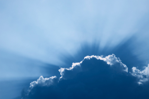 Sunbeam「cloudscape with sun beams」:スマホ壁紙(4)