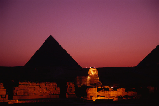 Pyramid Shape「The Giza Pyramids at Dusk」:スマホ壁紙(10)