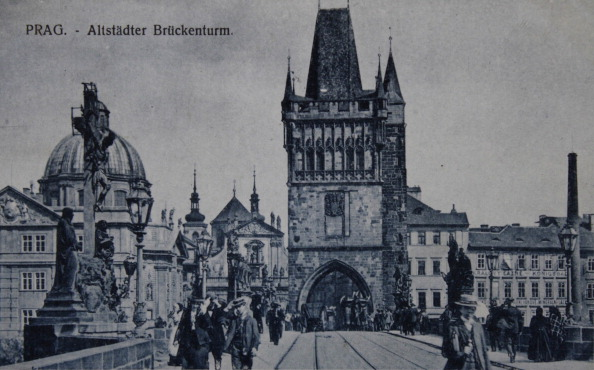 Old Town「Old Town Bridge Tower In Prague. About 1910. Photograph.」:写真・画像(16)[壁紙.com]