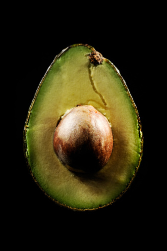 Avocado「Avocado cut is illuminated black background」:スマホ壁紙(9)