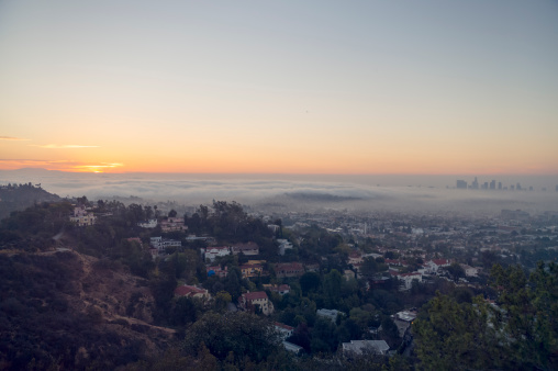 City Life「Downward view of sunrise towards Los Angeles」:スマホ壁紙(16)