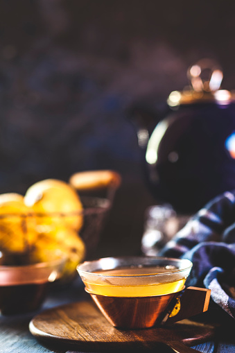 カリン「Tea cup of homemade hot quince infusion」:スマホ壁紙(0)
