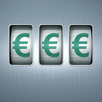 Three Objects「EUROS on a Slot Machine Display」:スマホ壁紙(18)