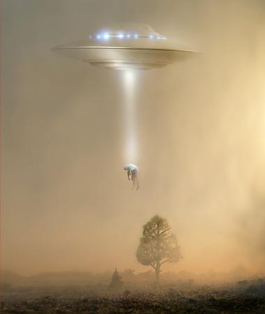 Mid-Century Style「Alien abduction」:スマホ壁紙(14)