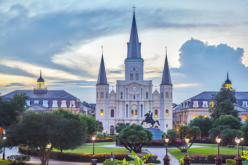 St「Jackson Square and St Louis Cathedral」:スマホ壁紙(5)
