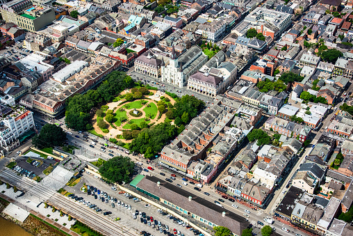 New Orleans「Jackson Square From Above」:スマホ壁紙(18)