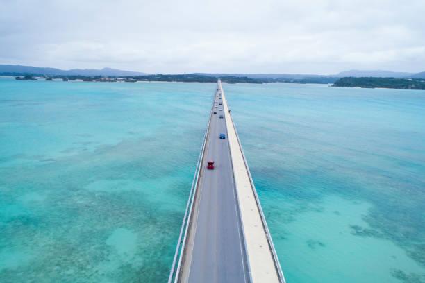 A bridge over the long sea.:スマホ壁紙(壁紙.com)