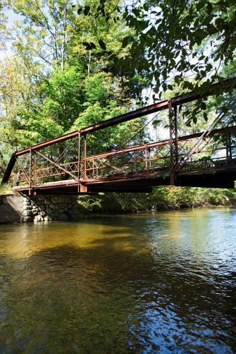 Adirondack Mountains「Bridge over river in the Adirondacks, New York」:スマホ壁紙(0)