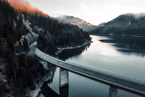 European Alps「Bridge over lake in Germany」:スマホ壁紙(16)