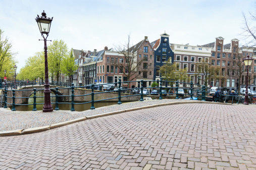 Amsterdam「Bridge over canal, Amsterdam」:スマホ壁紙(9)