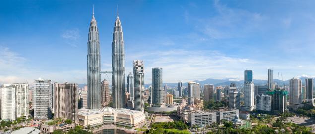 Kuala Lumpur「Kuala Lumpur Skyline Panorama」:スマホ壁紙(2)