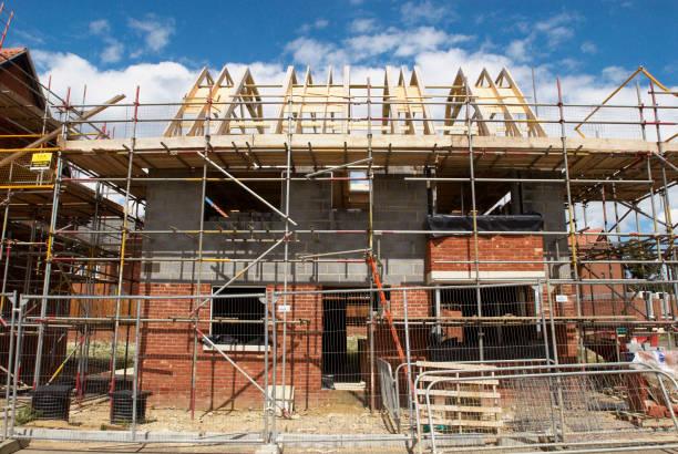 Detached house under construction, Norwich, Norfolk, UK:ニュース(壁紙.com)