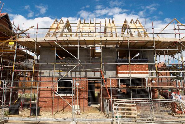 Construction Industry「Detached house under construction, Norwich, Norfolk, UK」:写真・画像(0)[壁紙.com]