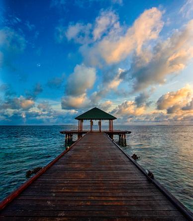 モルディブ「夜明け、モルディブ」:スマホ壁紙(3)