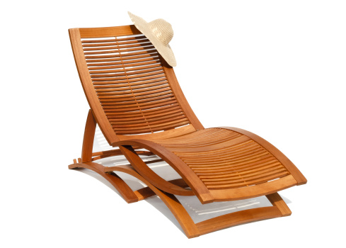 Lounge Chair「Wooden sunbead on white background」:スマホ壁紙(8)