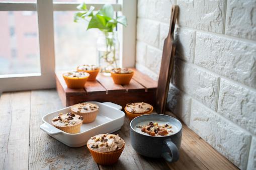 Coffee Break「homemade walnut cupcake and yogurt」:スマホ壁紙(17)