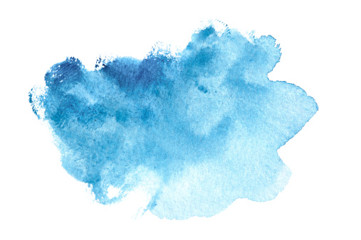 Ink「Abstract blue watercolor painted background」:スマホ壁紙(15)