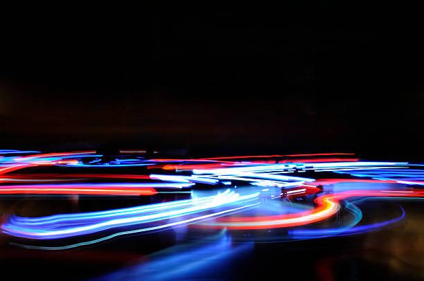 Abstract blue red horizontal lights traffic motion blur:スマホ壁紙(壁紙.com)