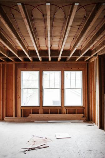 Ceiling「Interior framework of house under construction」:スマホ壁紙(0)
