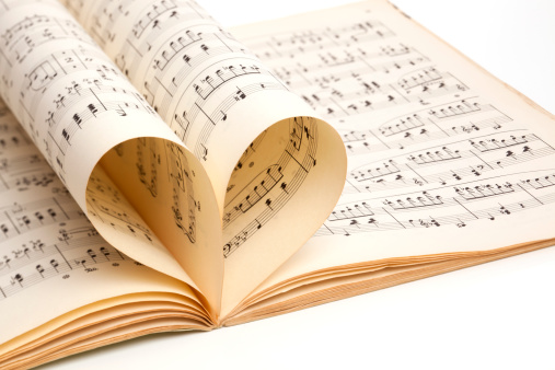 Sepia Toned「love of music, old score sheet」:スマホ壁紙(2)
