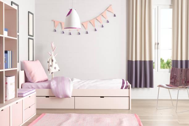 Pink Colored Teen Bedroom:スマホ壁紙(壁紙.com)