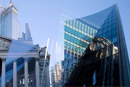 Responsible Business「London UK. Financial district Digital montage.」:スマホ壁紙(14)