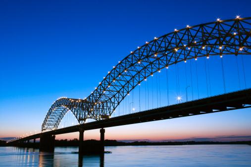 Tennessee「Hernando Desoto Bridge over the Mississippi River, Memphis」:スマホ壁紙(9)