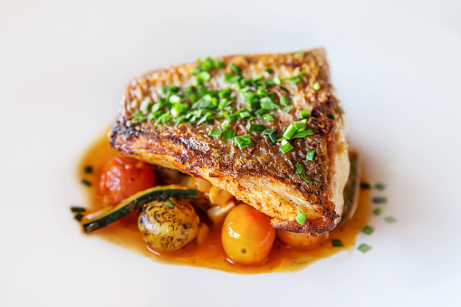 Grilled Salmon「Grilled fish with fresh vegetables」:スマホ壁紙(19)
