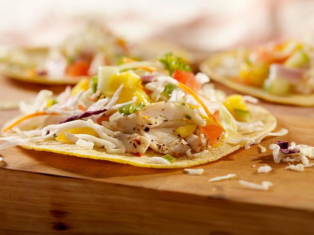 Grilled Fish Tacos with Mango Salsa:スマホ壁紙(壁紙.com)