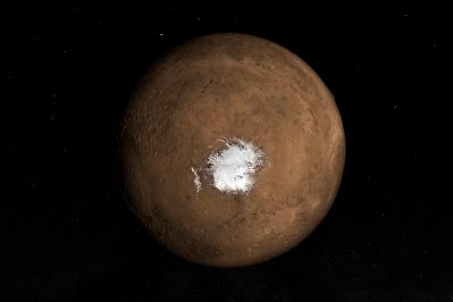 Volcanic Landscape「Nadir view of the Martian South Pole.」:スマホ壁紙(3)