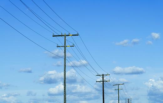 Power Line「Power lines and cloud」:スマホ壁紙(10)