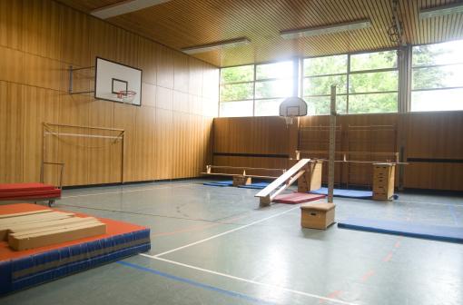 High School Student「physical education gym hall」:スマホ壁紙(11)