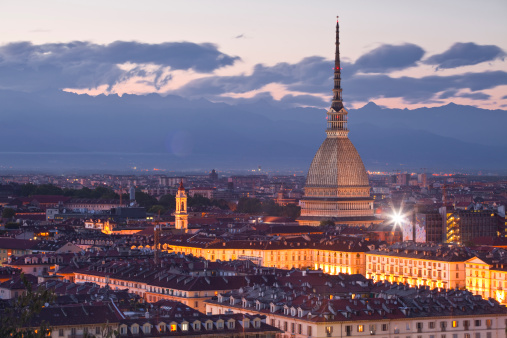 Torino Province「The Mole Antonelliana rising above Turin at night.」:スマホ壁紙(18)