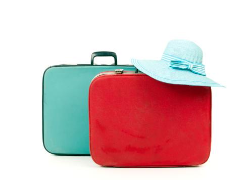 旅行「スーツケースと麦わら帽子」:スマホ壁紙(13)