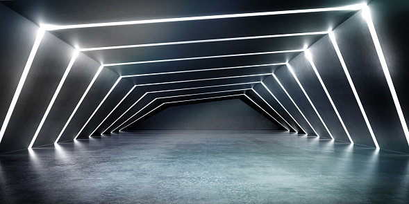 Panoramic「Empty dark abstract concrete room smooth interior.」:スマホ壁紙(13)