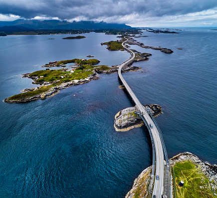 Fjord「Atlantic Road in Norway」:スマホ壁紙(15)