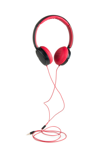 Cable「Red Headphones w/clipping path」:スマホ壁紙(18)