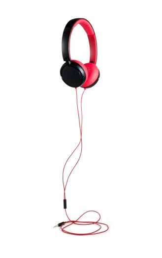 Headphone「レッドのヘッドフォン、クリッピングパス」:スマホ壁紙(12)