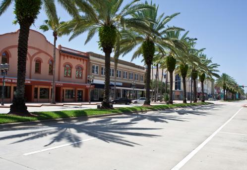 City Street「Daytona beach with road and trees」:スマホ壁紙(15)