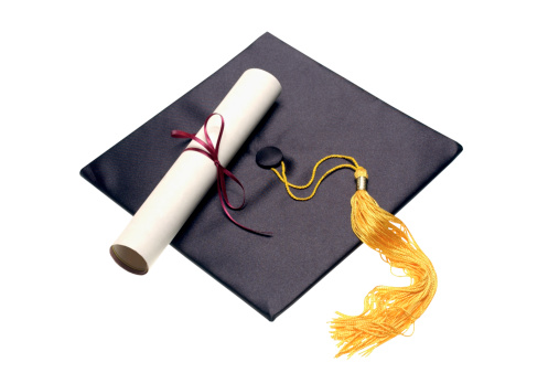 Diploma「Diploma and mortar board」:スマホ壁紙(9)