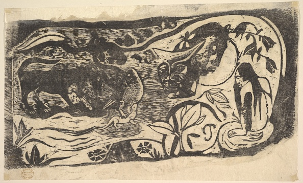 Horned「Woodcut With A Horned Head」:写真・画像(8)[壁紙.com]