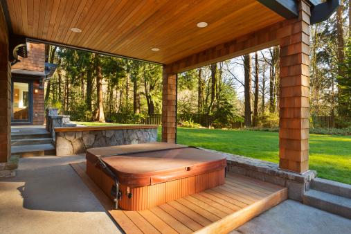Front or Back Yard「Hot Tub and Amazing Backyard」:スマホ壁紙(10)
