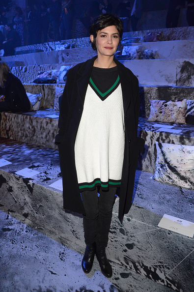 オドレイ・トトゥ「H&M : Front Row - Paris Fashion Week Womenswear Fall/Winter 2015/2016」:写真・画像(2)[壁紙.com]