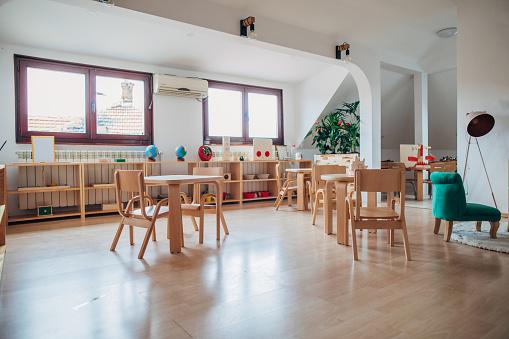 Preschool Building「Classroom of kindergarten interior design」:スマホ壁紙(2)