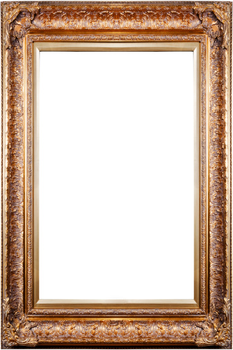 Renaissance「Ornate Large Antique frame blank copper gold isolated XXL carved」:スマホ壁紙(10)